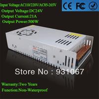 Supernova Sale DC24V Switching 21A 500W Power Supply Unit AC110/220V Led Driver For Strip Lamps Wholesale 1pcs/lot