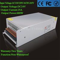 Supernova Sale DC24V Power Switch 25A 600W Power Supply Unit AC110/220V Led Driver For Strip Lamps Wholesale 1pcs/lot
