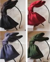 2014 Hot Sale Korean Hair Bow Fashion Hair Accessories Big Bowknot Hairbands Headbands For Women Hair Accessories Headwear