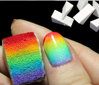 Free Shipping Nail Art Equipment Simple DIY Change color Sponge Creative Nail Tools 8 pieces/lot NA0298