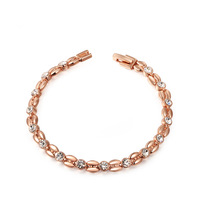 Top Quality Rose Gold Plated Inlay Zircon Wheat-shaped Bracelet & Bangles SWA ELEMENT Austrian Crystal Bracelets #2060802490