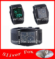 Square Dial Plastic Band Sports Watch (Black)+freeshipping!!