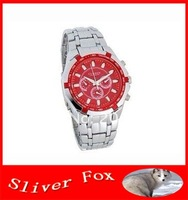 CURREN 8084 Round Dial Steel Band Men's Wrist Watch (Red)+freeshipping!!