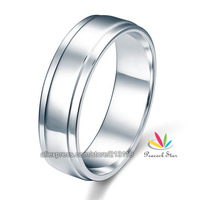Wholesale Men's Solid Sterling Solid 925 Silver Wedding Band Ring Jewelry CFR8055