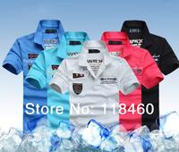 Free Shipping Men's 100%Cotton Luxury Slim fit Stylish  Short sleeve T Shirts T-shirts Size M L XL XXL XXXL