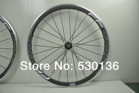 Factory sell 1pair 700C(38mm) clincher rim Road bike carbon wheels with alloy braking surface