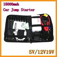 12V Car Jump Starter Kit Multi-function 15000mah Car Battery Charger 19V Power Bank For Cell Phone Laptop Tablet PC GPS