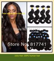 Hot sale good quality Body Wave 6A Unprocessed Julia queen hair 3pcs Lot Peruvian Virgin Human Hair Extensions Natural Color