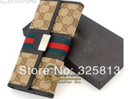 hot selling The new red-green stripe bow clutch classic designer women's fashion wallet purse AGUESX