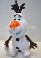 50 pcs/lot 25cm Frozen Snowman Snow Romance Plush Toys Free Shipping