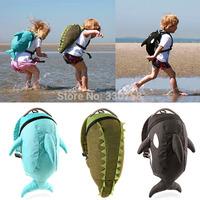 Cute School Bag Daysack Anti Lost Bags For Little Baby of Kindergarten Children Kids Whale And Crocodile 3D Cartoon Waterproof