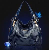 2014 new Ms. crocodile pattern leather handbags, fashion shoulder bag, black messenger bag wholesale, free shipping