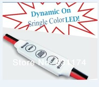 Free shipping R102-S;Mini 3-Key Single Color LED dimmer,DC12V input,12A/144W output