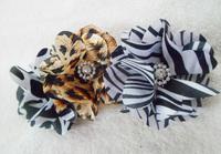 Promotion Gift Camelia flower with rhinestone hair clip,fabric flower brooch, hair accessory Holiday Sale Head Flower cartoon