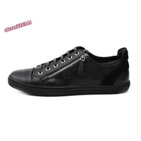2014 Spring  Genuine leather cool casual shoes daily side zipper low skateboarding men's shoes