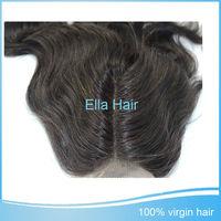 100% Unprocessed Human Hair Body Wave Middle Part Lace Closure Peruvian Virgin Hair 1 Piece Free Shipping Cheap Peruvian Hair