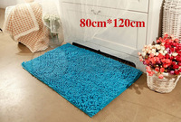 Free shipping chenille carpet mats doormat kitchen bathroom bath mats absorbent non-slip mat (80 * 120) tapete can be customized