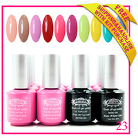 2014 new shellac nail gel 240 colors & base gel & top coat stay longer luster Free shipping