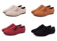New 2014 spring summer fashion comfortable casual flats women lacing flat shoes single shoes women plus size