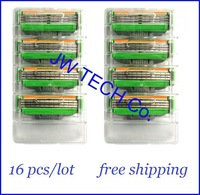 Free shipping Men Razor blades for man raplacement for M3 manual shaver shaving razor triple blades 16 pcs/ lot