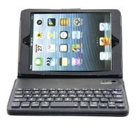 Free shipping Mini slim  bluetooth keyboard & keyboard case stand for iPad mni plastic + TPU