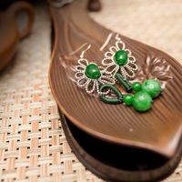 Free shipping / personalized earrings / Original handmade jewelry / classic sterling silver ear hook / female