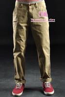 New arrival fashion high quality trousers for men / Vintage rose print slim casual Men pants /Black Blue Khaki Green M-L-XL-XXL