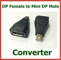 10pcs DP Female to Mini DP Male Mini Display Port Converter Computer Adapter Connector Extender High Quality