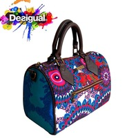 2014 DESIGUAL female Spring Fashion bag Multi-Color Ethnic style Leather bag, Women's Shoulder bag, lady Messenger bag