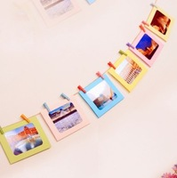 7 pcs/lot 6 Inch DIY Wall Hanging Cute Colorful Paper Photo Frame for Pictures Children Gift Free shipping 612