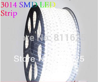 100% nouveau 5m 600 led 3014 220v flexible smd led light 120/m, bande de led, blanc/blanc chaud libre. plug power supply livraison gratuite
