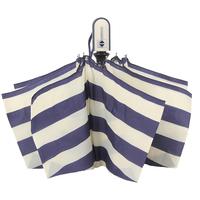2014 umbrella rain women navy stripe automatic umbrella super large anti-uv three fold umbrella folding 2 colors free shipping