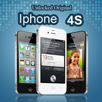 100% Original Unlocked iPhone 4S Mobile Phone 16GB 32GB 64GB ROM Dual core WCDMA 3G WIFI GPS 8MP Camera Used/new apple phone