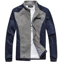 2014 New style Swallow gird men's coat Fashion color matching Raglan sleeve jackets Dig zipper bag Thin type of jacket D181