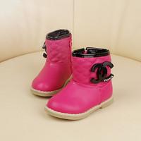 Winter child girls plus velvet princess shoes low boots baby cotton boots winter boots