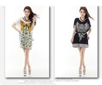 100%Ice silk large size Bohemian dress many styles