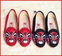 hot sale 2014 new fashion China Wind Peking opera Facebook women shoes woman casual sweet embroidery canvas women flats