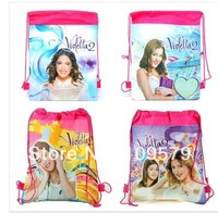 factory price Free shipping 36PCS/LOT Children Backpacks Violetta Printed School Bags For Girl Non-woven Bag,35*27cm
