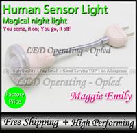 Magical night light, novelty item lamp, Human Sensor Light, human sense night light (light up once you get close!)