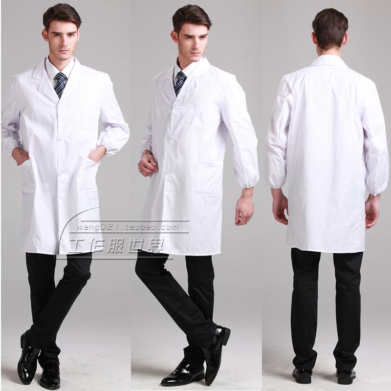 Xxxxl Xxxl Medical White Coat Work Wear Lab Coat Long Sleeve Doctor Clothing Nurse Clothing Lab Coat