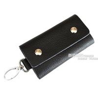 Male multifunctional genuine leather key wallet women's key bags car keychain