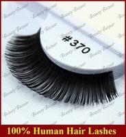 Newlook Free Shipping #370 3pairs/lot 100% Real Human hair false Strip thick naturally large elegant false eyelash extension
