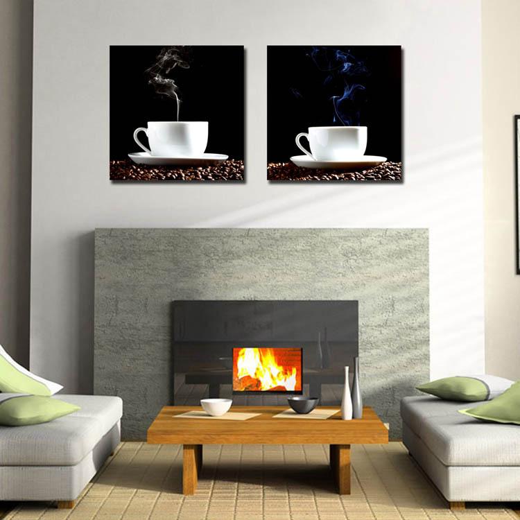 Coffee Painting on Canvas Coffee Painting on Canvas