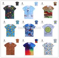Free Shipping Fashion Animal Print 3D T shirt 3D Retro Palace/Lion/ Print Tshirt Man Z001