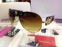New Top Fashion Designer Best 2014 VE2150 Brand women men Sunglasses popular eyewear Human head glasses 3cols free shipping