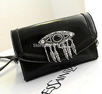 Hot 2014 day clutch shoulder bag messenger bag personality big eyes tassel bags women bag