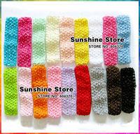 Sunshine store #2F0001 100pcs/lot(18 colors) Accessories Crochet Headwear Elastic Pure Color Headwrap Children Girls Headbands