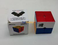 wholesale 10pcs/lot Moyu Lingpo 2x2 speed cube 2 layer magic cube Twist puzzle Educational toy +free shipping