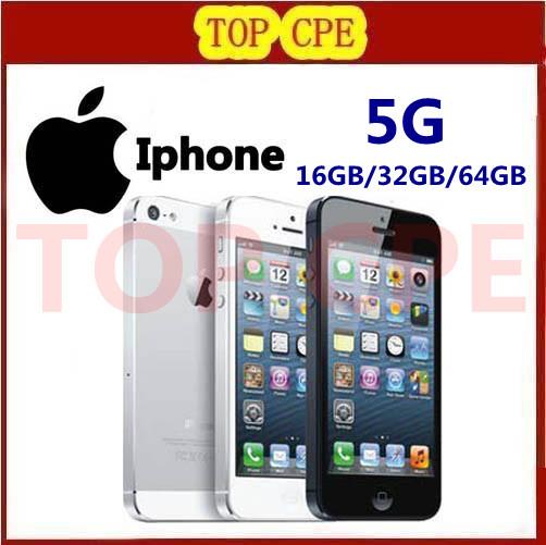 In sealed box Original Iphone 5 Factory Unlocked 16GB/32GB/64GB storage GPS WIFI Dure Core 4.0 Screen mobile Phone(China (Mainland))