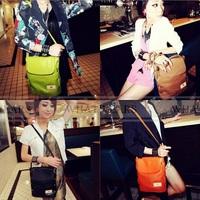 Free Shipping Women's Candy Color Bucket Bag Shoulder Messenger Bag Satchel [10-0440]
